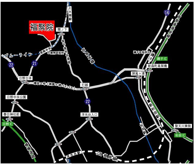 福聚院(福寿院)曼荼羅苑アクセス地図